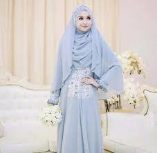tutorial hijab syar i untuk pengantin 10 inspirasi pilihan gaun pernikahan muslim syar i yang modern