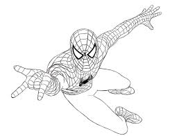 spider man clipart coloring page pencil and in color spider man