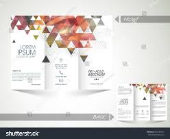 creative abstract trifold brochure template flyer stock vector