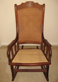 Antique Victorian Rocking Chair Big Wood And Cane Rocking Chair Collectors Weekly