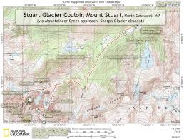 Wa Map Map Of Approach To Mt Stuart North Cascades Wa Photos