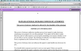 Durable Power Of Attorney Forms by How To Write A Hawaii Power Of Attorney Form Youtube