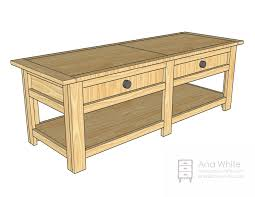 Free Woodworking Furniture Plans Pdf by Ana White Wooden Train Table Coffee Table Diy Projects