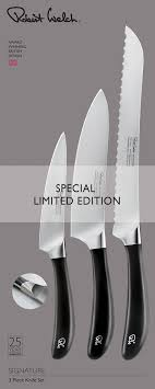 robert welch kitchen knives welch 3 piece knife set promotion signature range gift boxed