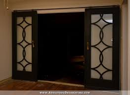 my finished sliding barn door style french doors
