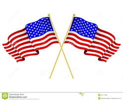 american flags crossed royalty free stock image image 24777586
