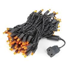 led christmas lights on black wire novelty lights inc