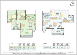 Floor Plan Flat by Buy 2 Bhk Affordable Flats In Wakad Pune Floor Plans Mont Vert