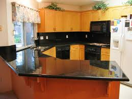 Kitchen Colors With Oak Cabinets And Black Countertops Kitchen Small Galley With Island Floor Plans Cabin Laundry