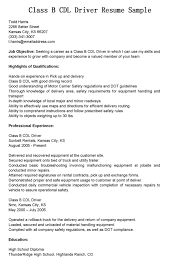 Sample Delivery Driver Resume by Commercial Truck Driver Resume Sample Free Resume Example And