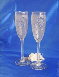 wedding goblets buy wedding glasses painted on livemaster shop