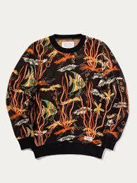 fish sweater buy wacko tropical fish jacquard sweater at union los