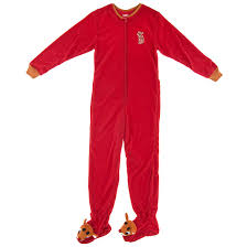 rudolph the red nosed reindeer footed pajamas for women footed