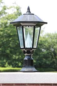 Outside Post Light Fixtures Gama Sonic Solar Outdoor Led Light Fixture 3