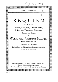 requiem in d minor k 626 mozart wolfgang amadeus imslp
