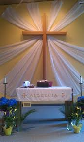 easter religious decorations easter with sheer curtains church sheer