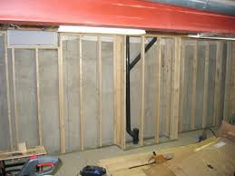 finishing basement remodel design with concrete wall paneling