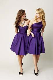 purple dresses for weddings knee length purple bridesmaids dresses http aiowedding com wedding