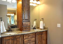 Bathroom Mirror Ideas Rustic Bathroom Mirror Ideas Classic Black Granit Vanity