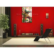 large vertical feng shui wall art on canvas peacock painting