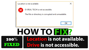 drive not accessible drive is not accessible location is not available the disk