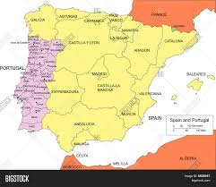 Map Spain Download Map Of Spain And Surrounding Countries Major Tourist