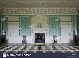 the entrance hall at saltram devon the painted stone