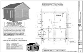 Floor Plans For Sheds Easy To Follow Garage 20 X 20 X 9 Plan Free House Plan Reviews