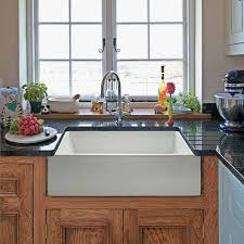 Ideas For Country Kitchen White Farm House Sink Country Style Near The Window Home Decor