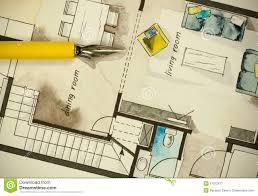 architectural flat floor plan stock illustration image 57372427