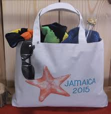 welcome bags for weddings nautical destination wedding starfish set of 10 canvas bag