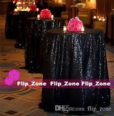 Bling Wedding Decorations For Sale Bling Black Sequins Table Cloth For Garden Gothic Wedding Party
