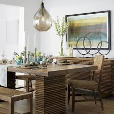 Paloma II Reclaimed Wood Dining Table Crates Barrels And - Barrel kitchen table