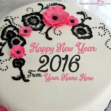 New Year Cake Decorations Ideas by Best New Year 2016 Cake With Name Happy New Year 2016 Name Cakes