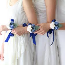 handmade flower bracelet images Deep blue handmade paper flower bracelet posie flowers jpg
