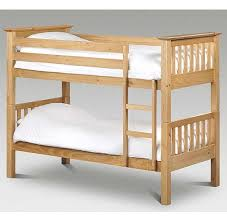 Barcelona Solid Pine Bunk Bed Natural Splits Into  Single Bedframes - Solid pine bunk bed