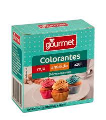 colorantes rojo amarillo azul gourmet