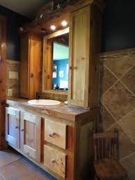 bathroom custom country bathroom vanity with cabinet and lights