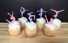 gymnastics cake toppers gymnastics party edible cupcake toppers thin wafer paper 30