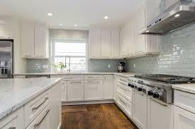 kitchen white cabinets dark counters stylish black stool