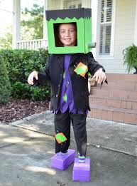 kid u0027s halloween costume frankenstein craft items cardboard
