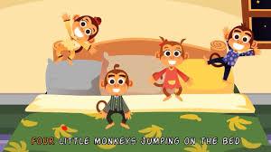 5 little monkeys jumping on the bed nursery rhymes u0026 kids u0027 songs