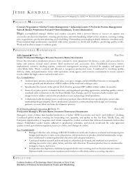 fashion producer sample resume production resume template