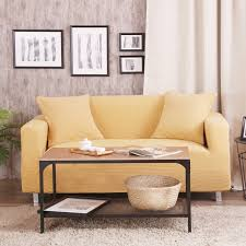 housse universelle canapé jaune universal stretch canapé couverture 100 polyester stretch