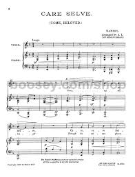 Selve Georg Friedrich Händel Care Selve In F