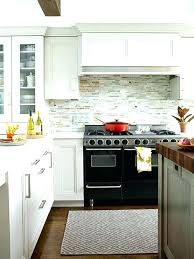 subway tile backsplash for kitchen light gray kitchen cabinets with aqua mini glass tile backsplash