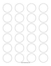 1 Inch Circle Template by 1 Inch Circle Template Printable And Many Other Sizes Bottle