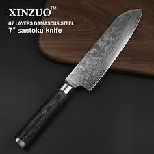 Damascus Steel Kitchen Knives Xinzuo 7 Inch Santoku Knife 67 Layers Damascus Steel
