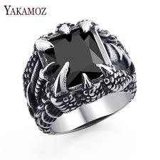 black stone rings images Yakamoz fashion men rings punk black stone rings cool stainless jpg