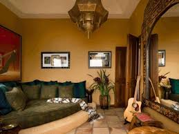 moroccan living rooms leather couch on white areas rugs decors red